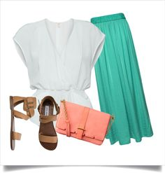 Spring Maxi Skirt Outfit, created by ehanson on Polyvore