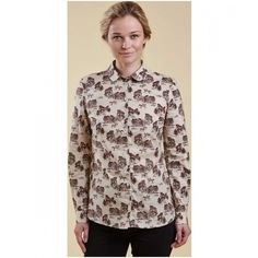 Women's Holsteiner Print Shirt Of Barbour Products Online Sale[47]men brand jacket online sale,barbour mens jacket sale,Free and Fast Delivery. akkartalmarine.com