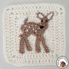 Ravelry: Whitetail Fawn deer Applique pattern by The Rusted Pansy