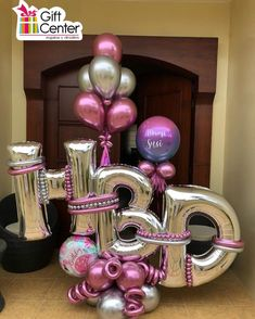 Birthday Balloon Decorations, Balloon Crafts, Balloon Gift, Diy Party Decorations, Birthday Balloons, Balloon Arrangements, Balloon Centerpieces, Birthday Balloon Delivery, Deco Ballon