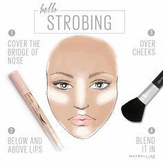 The secret weapon to the strobing makeup technique is using a highlighter, which is applied in areas of your face where light hits, we show you how!