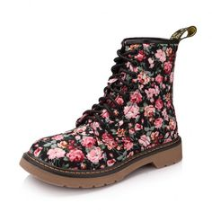 Fashion Floral Print Dr Martens Women's Boots. Not practical for me, but still cute as heck.