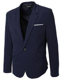 FLATSEVEN Mens Slim Fit Casual Premium Blazer Jacket: Amazon.co.uk: Clothing