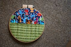 Week #36 - Hanging Hoopla - a fun little craft room organiser for my 36th project as I make 52 Crafts in 52 weeks!