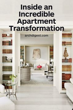 See What This Georgetown Apartment Looked Like Before and After Its Transformati. See What This Georgetown Apartment Looked Like Before and After Its Transformation – # Architectural Digest, Georgetown Apartment, Home Libraries, Built Ins, Living Spaces, Living Rooms, New Homes, Home Decor, Apartment Ideas