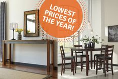 Totally Furniture's Tips For Shopping Without The Headache & Ashley Furniture Holiday Deals Can You Find It, Drop Leaf Table, Holiday Deals, Signature Design, End Tables, Stuff To Do, The Incredibles, Tips, Shopping