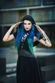 Model: BLUE ASTRID Photo: WikingArt - Fotografia Dress: Askasu Welcome to Gothic and Amazing  www.gothicandamazing.com