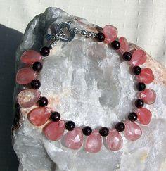Strawberry Quartz & Garnet Crystal Gemstone by SunnyCrystals, £14.00
