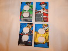 Items similar to Children Outlet Set Paw Patrol Outlet Cover and Switch Plates Set 4 piece Children Nursery on Etsy Boy Toddler Bedroom, Toddler Rooms, Baby Boy Rooms, Kids Bedroom, Paw Patrol Bedroom, Bedroom Themes, Bedroom Ideas, Disney Bedrooms, School Bags For Kids