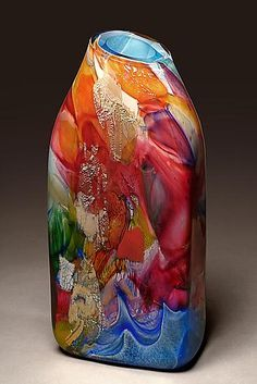 """Shard Rectangle"" Art Glass Vessel Created by Randi Solin"