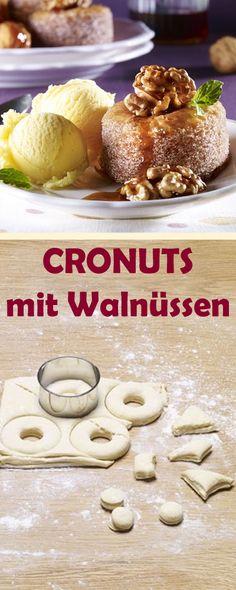 Cronuts sind Trend! So könnt ihr die Mischung aus Donut und Croissant ganz einfach selber backen! Rezept für Cronut mit Nüssen und Ahornsirup auf www.gofeminin.de/kochen-backen/anleitung-cronuts-d55203c626430.html