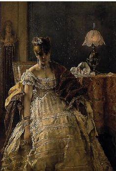 Alfred Stevens (1823-1906) Belgian Painter