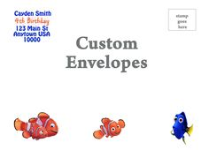 This listing is for custom Printed return address 5x7 or 4x6 envelopes. Envelopes are .50 cents each (Minimum order of 10) Once the order is placed a sample will be sent for approval. Samples must be
