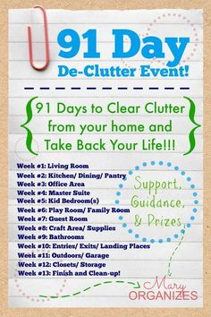 De-Clutter Challenge Link-Up -- #Declutter #Organization - http://maryorganizes.com/2014/08/de-clutter-challenge-link-up/