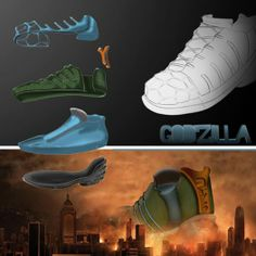 Last weeks were tough, so I had to take a break. But now here's the first quick view of a new footwear design, inspired by the new amazing Godzilla-film and, of course, Godzilla itself. Stay on hold for next week. #Industrial #Design #Product #Fashion #Sketching #Illustrator #Photoshop #Godzilla2014 #MUTO #Reptile #Japan
