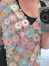 cute crochet scarf with pattern