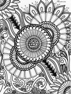 Mandala Coloring, Colouring Pages, Adult Coloring Pages, Coloring Sheets, Coloring Stuff, Art Therapy Activities, Art Anime, Doodle Designs, Deco