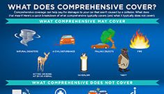 A link to an infographic showing what comprehensive covers in auto insurance.