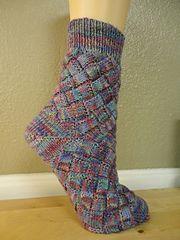 Ravelry: Entrelac Socks pattern by Yuko Fredrick