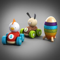 3D Wooden Toys Model - 3D Model