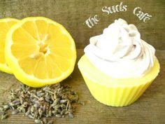 Lemongrass Lavender Cupcake Soap cold processvegan by TheSudsCafe, $4.99