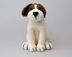 Azor el Beagle perro Amigurumi patrón cachorro ganchillo patrón, decoración cuarto de niños, cumpleaños, regalos para niños, decoración casera, ducha de bebé