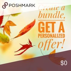 🍁Bundle up! 🍁 Create a bundle with two or more items and receive a personalized offer! Other
