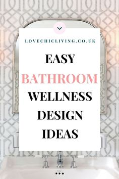 Easy design ideas for bathroom wellness inspiration. If you are looking to redesign your bathroom and bring in a little more bathroom wellness style, here's a post designed to bring you some bathroom inspiration and ideas on how to redecorate your bathroom for a more calm and relaxing feel #lovechicliving Digital Detox, Bright Homes, Declutter Your Home, Vanity Units, Simple Bathroom, Bathroom Inspiration, Simple Designs, Decorating Your Home, Things That Bounce