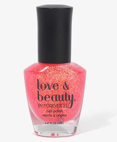 Coral Glitter Nail Polish from Forever21