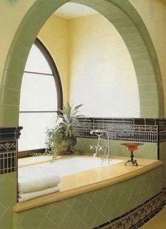 enclosed bath in alcove - Google Search