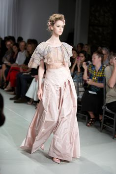 Zac Posen Spring I feel as if I need a first edition Jane Austen novel or a basket of heirloom roses from the estate garden.  #isn'tthislovely