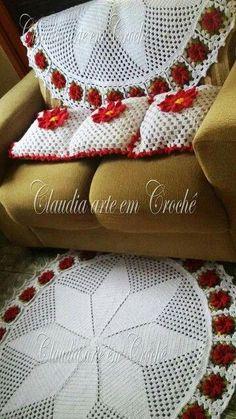 Crochet Flower Patterns, Afghan Crochet Patterns, Crochet Flowers, Crochet Crafts, Crochet Doilies, Crochet Projects, Crochet Afgans, Knit Crochet, Crochet Kitchen