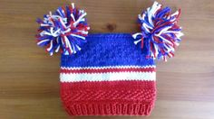 USA Baby Hat  NYR children Hat  Born in USA  by UniqueKnitDesign