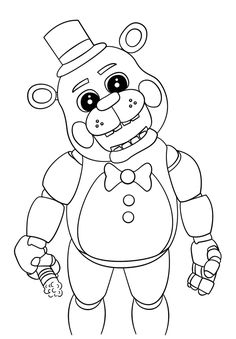 Cute Five Nights At Freddys 2018 Coloring Pages