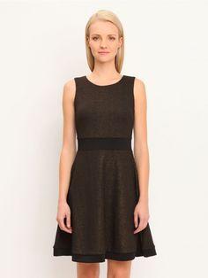 Γυναικείο αμάνικο φόρεμα.  Σύνθεση: 100% Πολυεστέρας. Χρώμα: Μαύρο. Black, Dresses, Fashion, Gowns, Moda, Black People, Fashion Styles, All Black, Dress