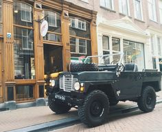 Land Rover, Air Portable, Lightweight, 1974, jeep, 4x4, british glory, custom, leather details, Red Wings Amsterdam shoe store