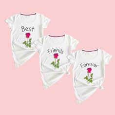 Best Friends Forever shirts best friends shirts for 3 flower best friends shirts bff shirts for three besties shirts bff shirts