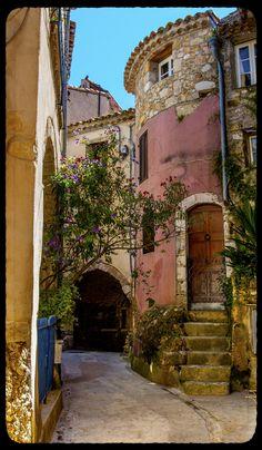 Roquebrune-Cap-Martin Street, Provence,France