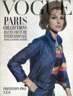Mrs Patrick Guinness en Chanel en couverture de Vogue de mars 1962, photo William Klein