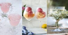 Midsummer drink- and cocktail inspiration and ideas. Alcoholic Drinks, Cocktails, Limoncello, Food Presentation, Sorbet, Food Styling, Wine Glass, Champagne, Cooking