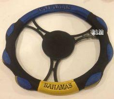 Reggae Land Muzik Store - Bahamas Mesh Steering Wheel Cover : Black, Blue