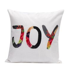 JOY Colorful Text Decorative Cotton Linen Throw Pillow Sofa Office Car Seat Cushion    Perfect for decorating your room in a simple and fashion way.  Suitable for living room, bedroom ,sofa ,couch ,bed ,car ,seat ,floor ,bench ,office ,cafe, etc.     Great gift for friends, couples, workmates, etc.    A very easy way to decorate an entire room without much work with this trendy and clean-looking pillow covers set.  Girl Boss Products and Merchandise | Buy Now | Free shipping on all orders