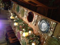 Fire and Light dishes for a holiday meal.  Tablesettings