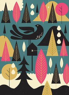 Meadow by illustrator Tracy Walker #uxbridgestudiotour