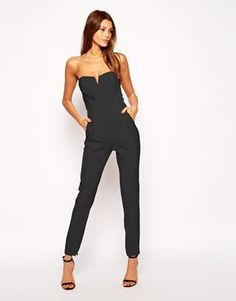 Enlarge TFNC Tailored Jumpsuit With Tie Waistband
