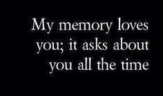 It misses you.