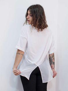 blusa chiffo branca