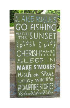 Lake House Cottage Rules