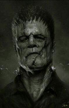 "Frankenstein by Adnan Ali > Horror - posted May 2014 Here is a portrait of ""Frankenstein"" in modern days. Dark Fantasy Art, Dark Art, Zbrush, Art Frankenstein, Creepiest Horror Movies, Art Zombie, Beautiful Creatures, Horror Monsters, Arte Obscura"