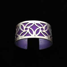 Handmade from sterling silver and anodized aluminum. #ilovegogojewelry #cuff